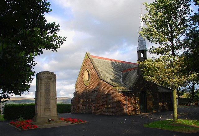 Chapel at Blackrod cemetery
