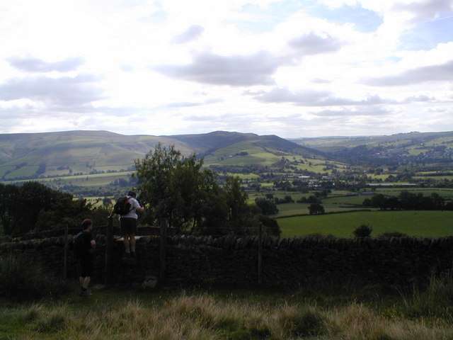View roughly towards Bamford from Win Hill footpath