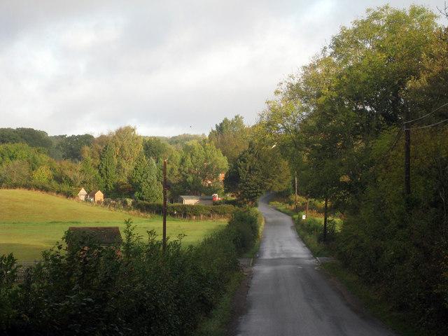 Lane towards Ponts Green
