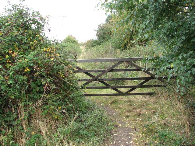 Gate on footpath