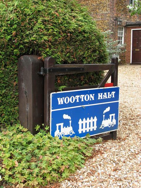 Wootton Halt - the sign