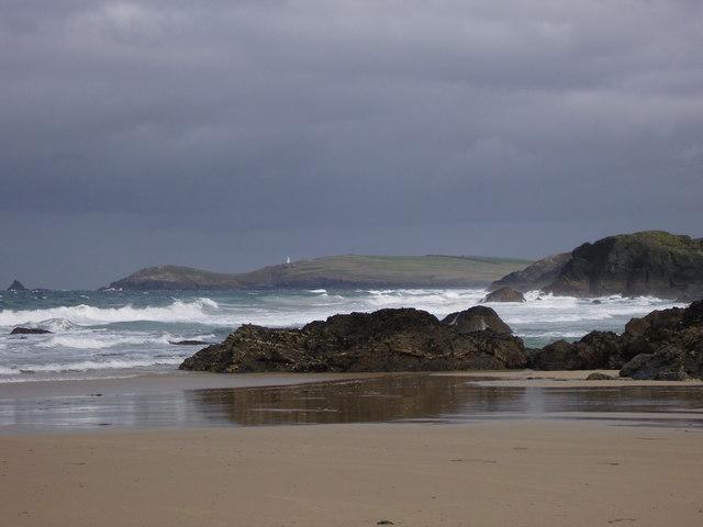 Porthcothan Bay at low tide