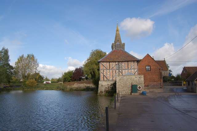 Dovecote and fish pond at Staunton