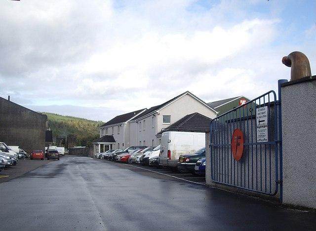 Business premises car park