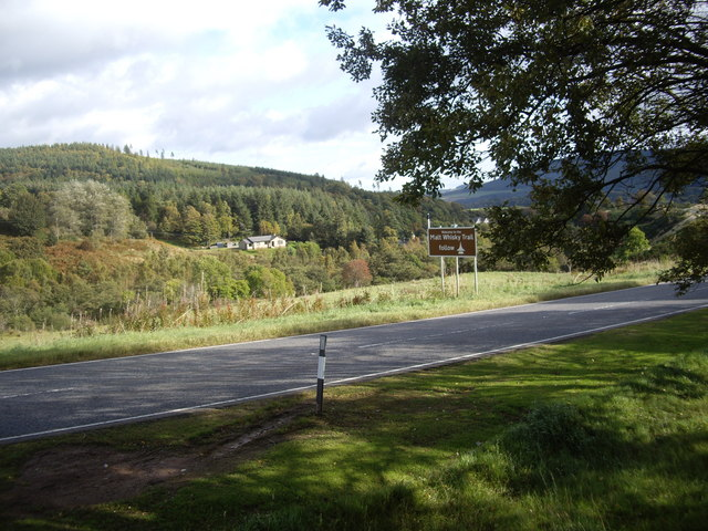 The road into Rothes