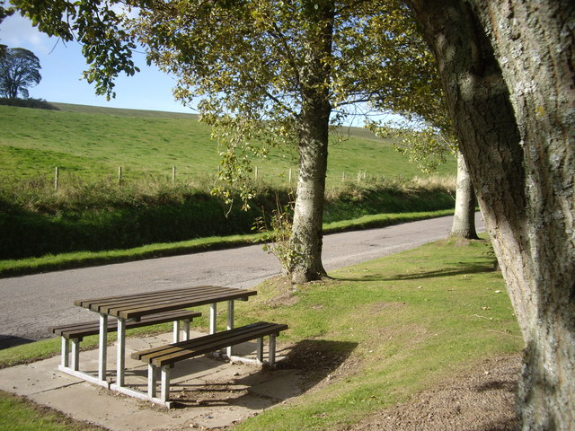 Picnic table in the lay-by