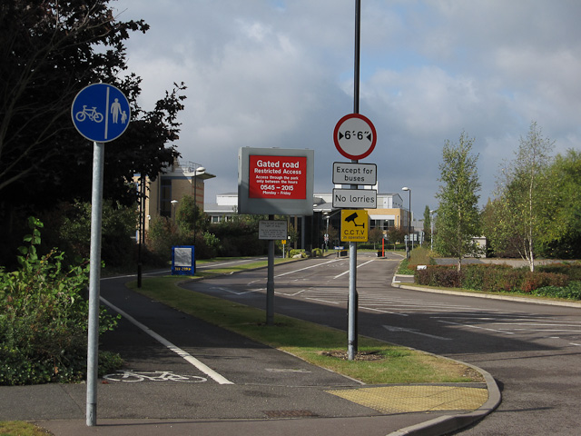 Route through the science park