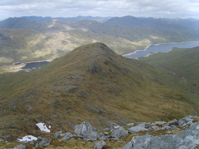 Ridge of Druim Buidhe from Sgurr nan Coireachan