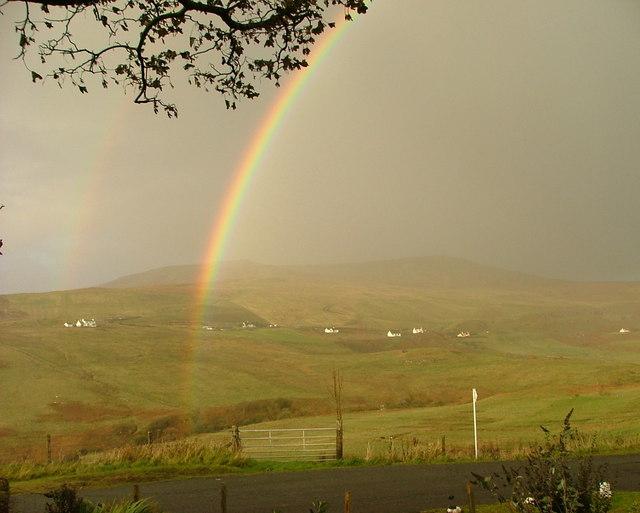Rainbow over Glen Uig