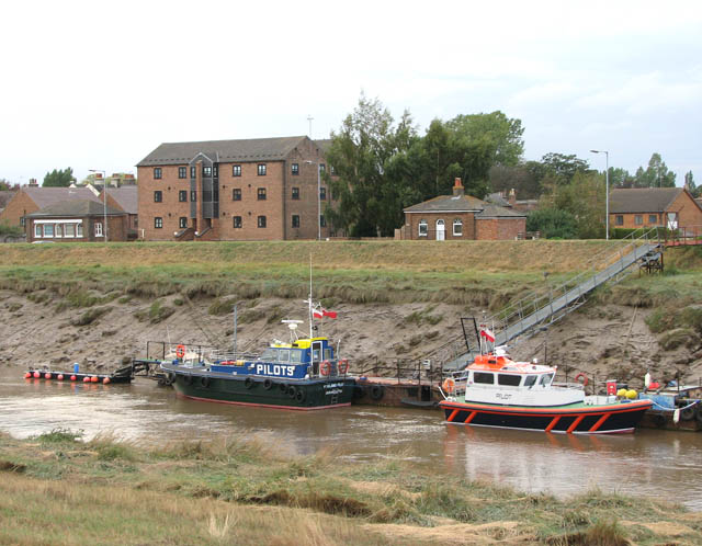 Pilot boats moored on the River Nene