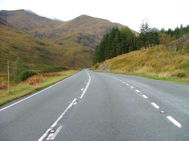 The A87 in Glen Shiel