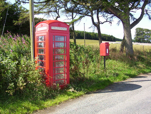 Phone and post box at Ythan Wells
