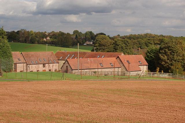 Barn conversions at Woodend Farm, Linton