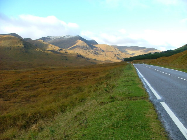 The A87 trunk road