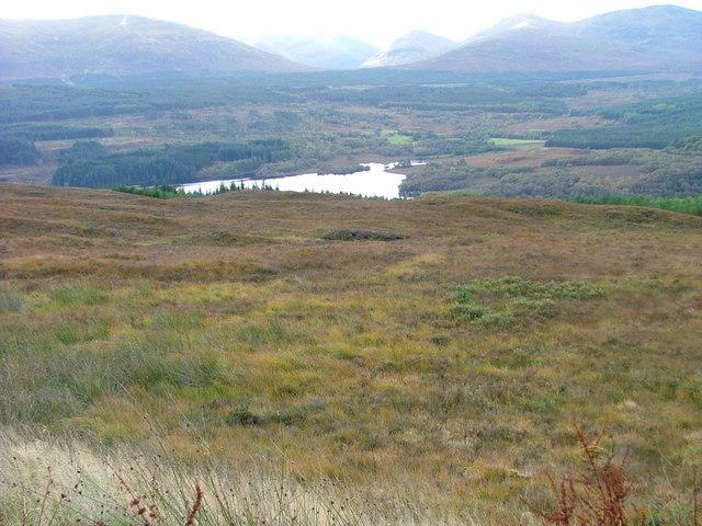 Moorland above Loch Garry