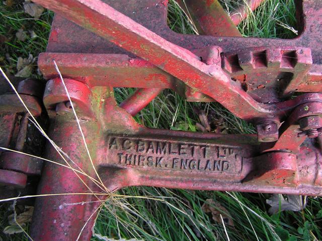 Inscription, mowing machine