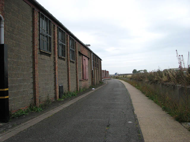 View north past warehouses on West Parade