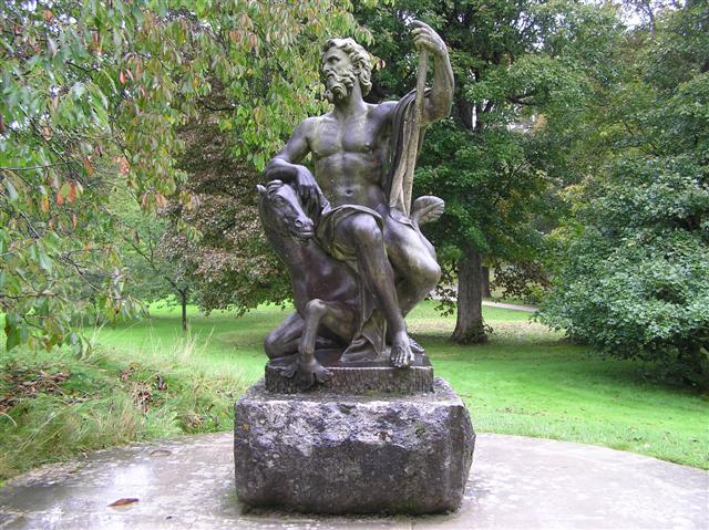 Neptune statue, Holker Hall