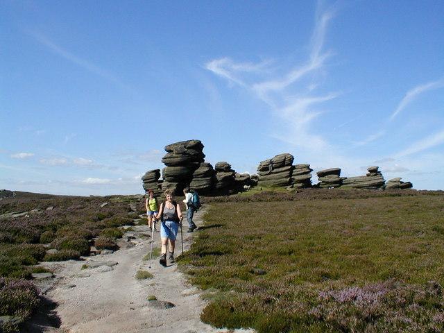 View back to the Wheel Stones, Derwent Edge