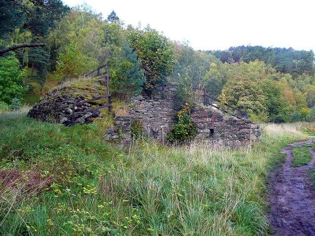 Overgrown lime kiln at Loch an Eilein