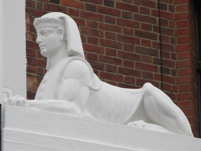 Sphinx statue on offices in Duchess Street, W1
