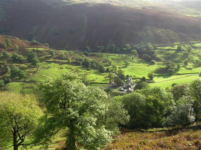 Looking down on Troutbeck Park