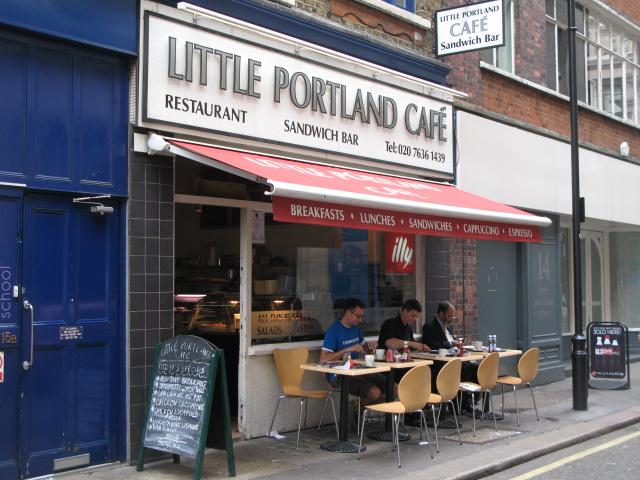 The Little Portland Café, Little Portland Street, W1
