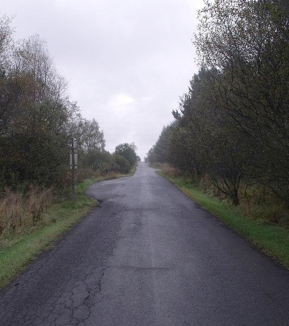Fannyside Road on the Slamannan Plateau