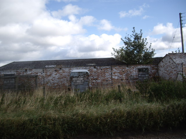 Derelict RAF buildings at Bogs of Mayne