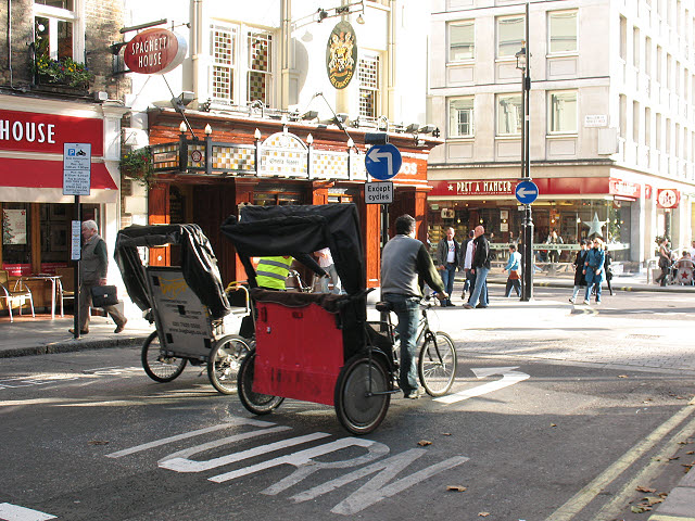 Rickshaws in St Martin's Lane