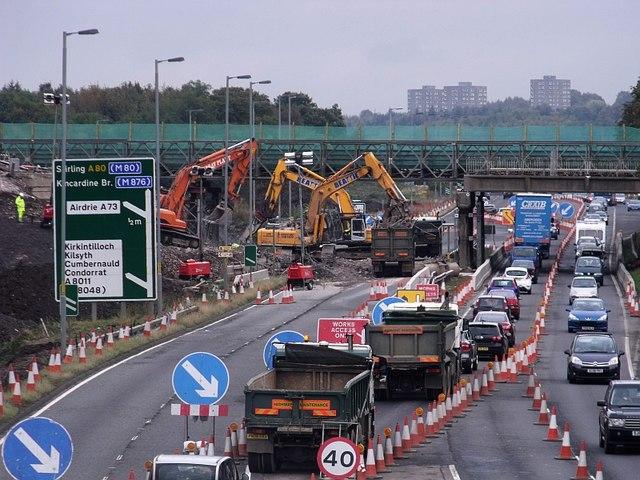 Cumbernauld, demolition of North Road bridge