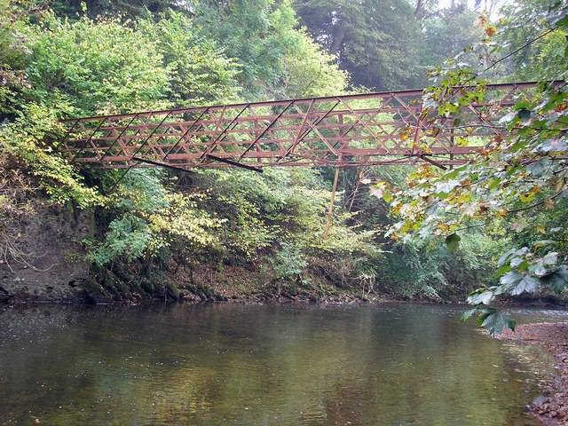 Looking North to the Old Drygrange Footbridge