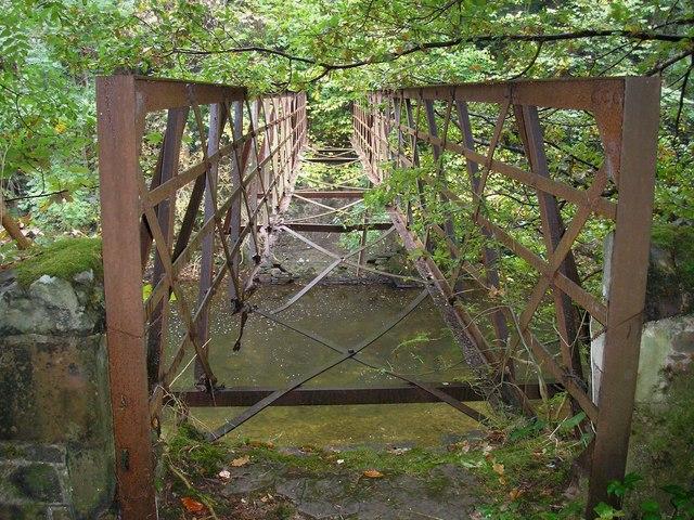 The remains of the Drygrange Footbridge
