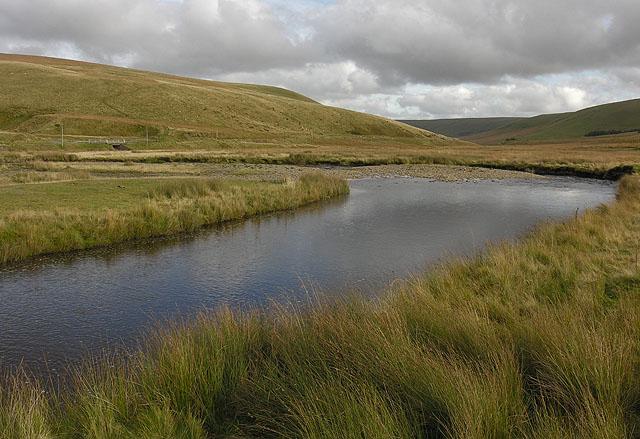 Afon Elan below Glanhirin farm bridge