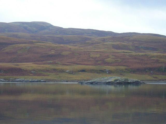 Little isle of Sgeir a'Ghanraidh on Loch Spelve
