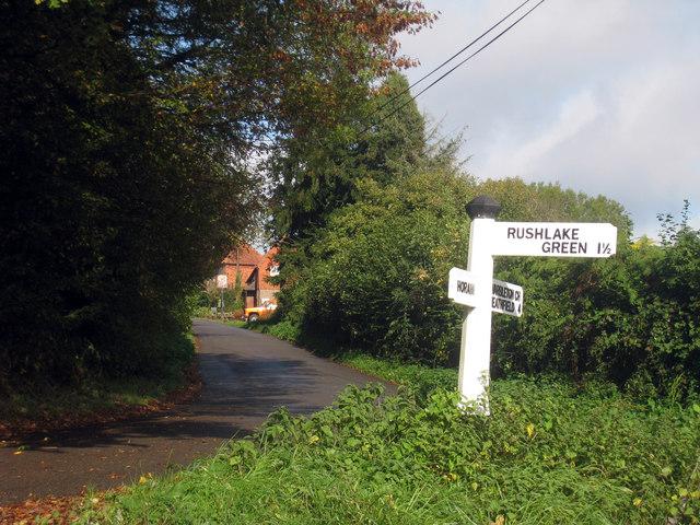 Signpost at Warbleton