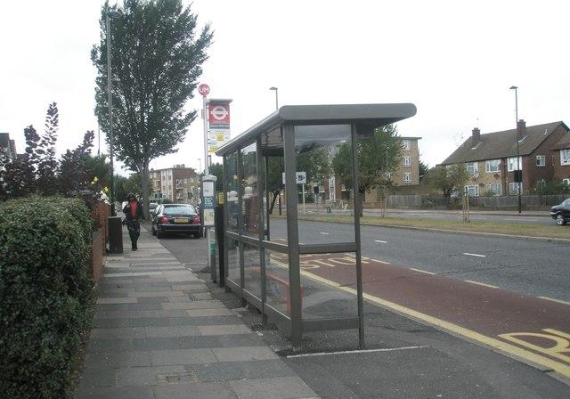 Bus stop in the Uxbridge Road