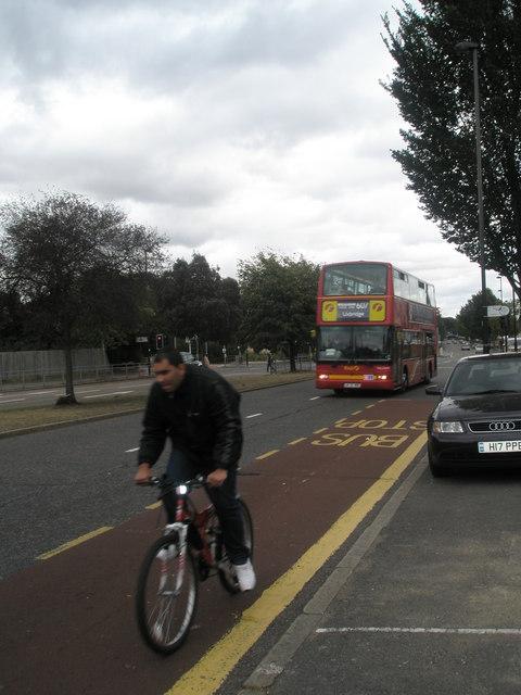 607 bus in the Uxbridge Road