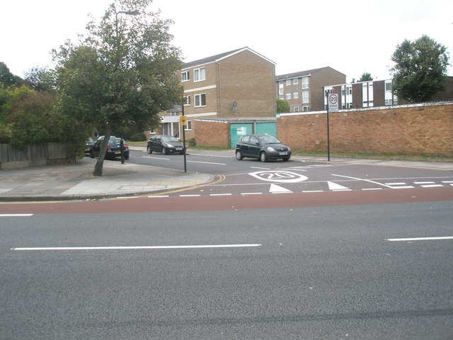 Junction of  Longford Avenue and the Uxbridge Road