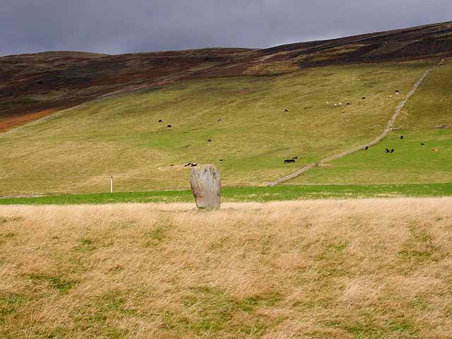 Standing stone at Yarrow