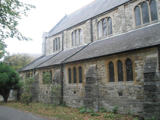 South wall at Holy Trinity, Southall