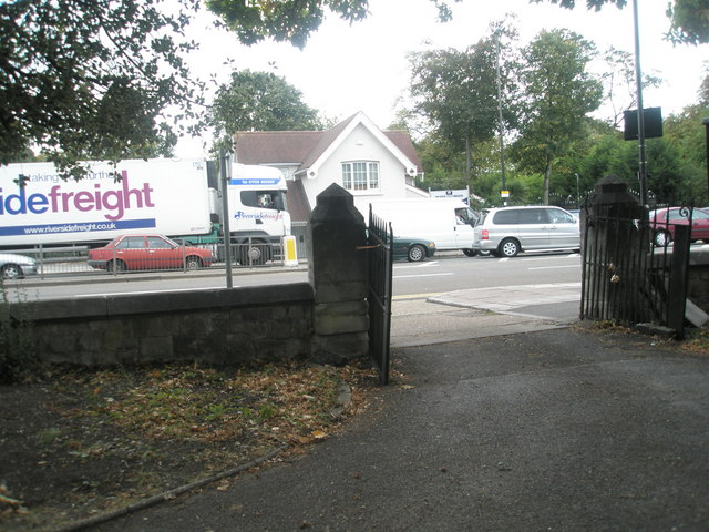 Looking from Holy Trinity out into the Uxbridge Road