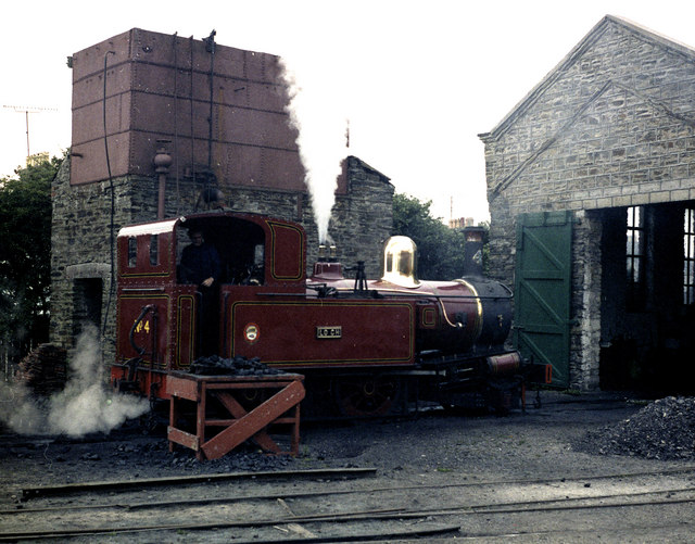 Locomotive No 4 at Port Erin