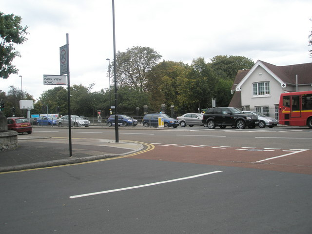Junction of Park View Road and the Uxbridge Road