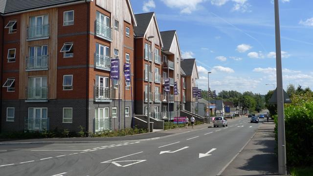 New Flats beside the Watling Street, Fenny Stratford