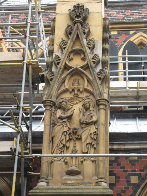 All Saints Church, Margaret Street, W1 - decorated pillar