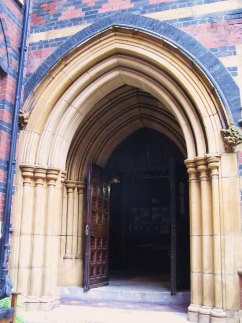 All Saints Church, Margaret Street, W1 - entrance