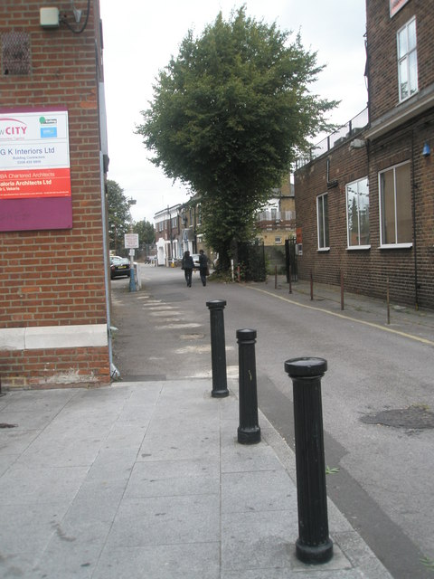 Bollards in Southall High Street