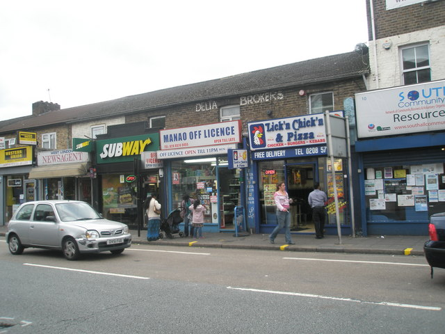 Shops in Southall High Street