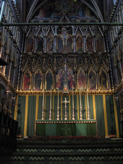 All Saints Church, Margaret Street, W1 - chancel